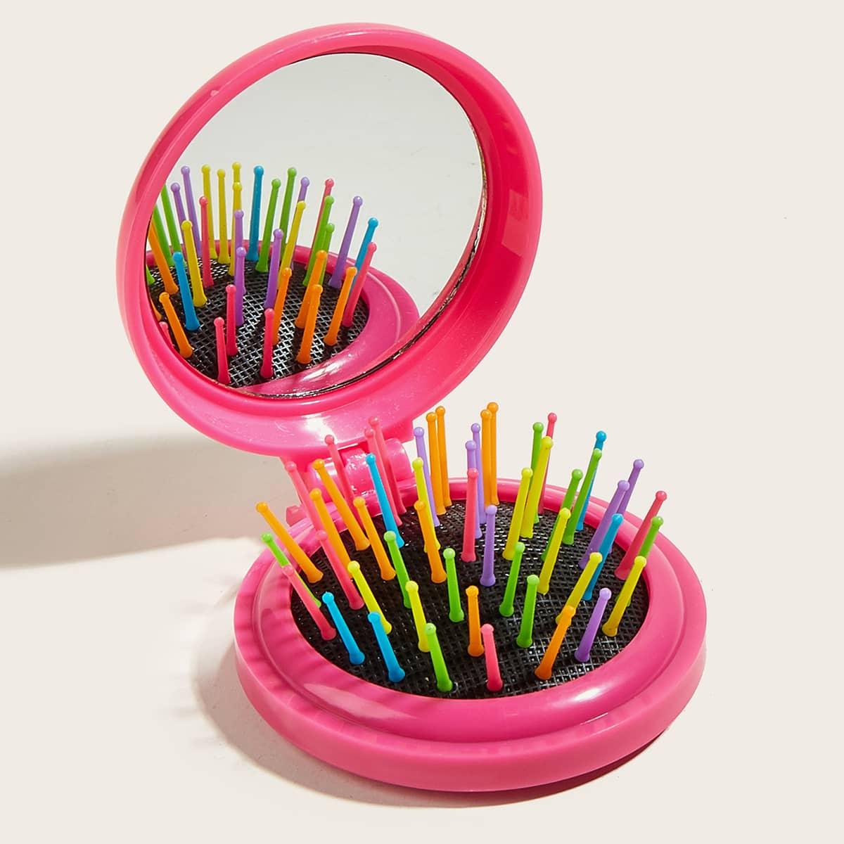 Щетка для волос и зеркало 2 в 1