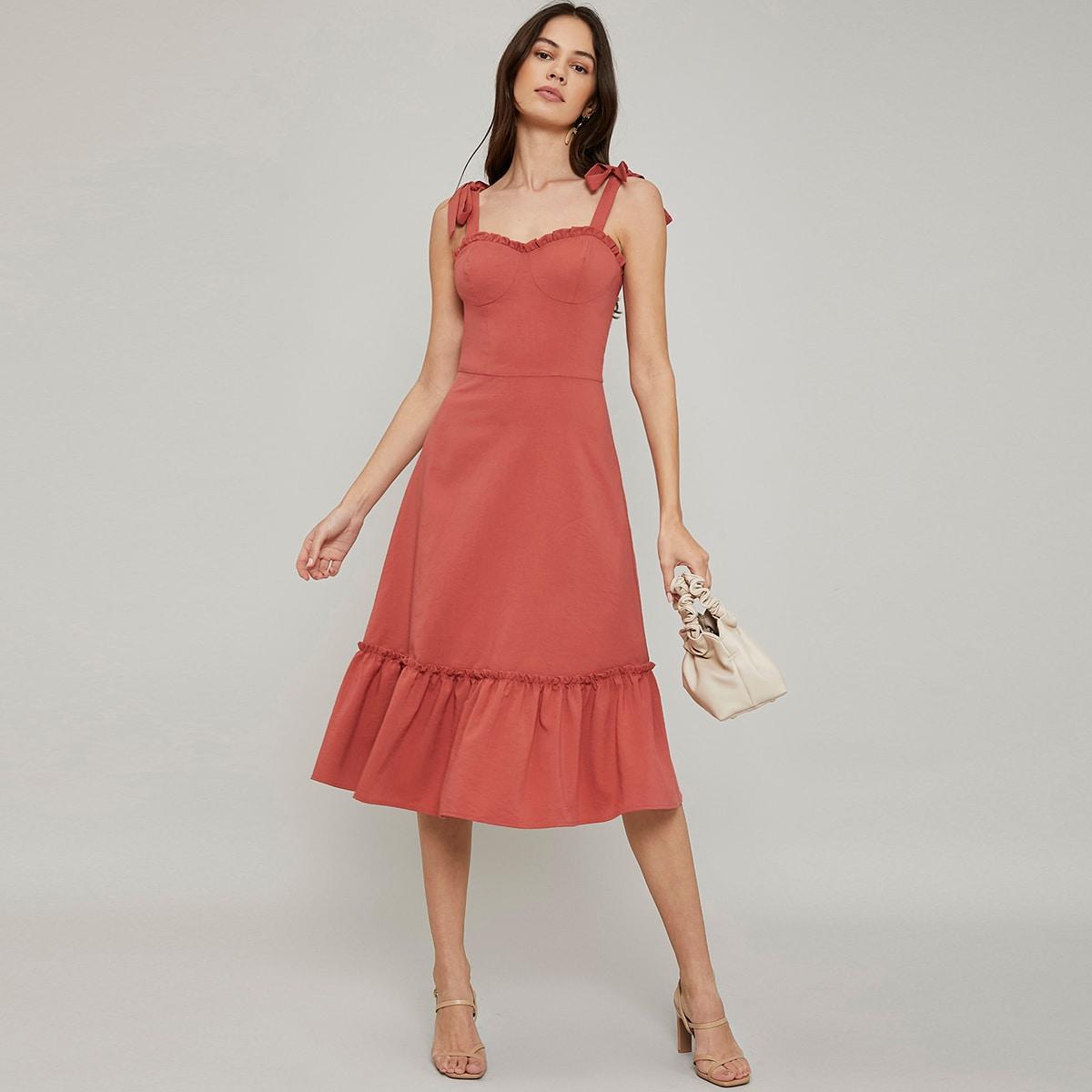 Облегающее платье из искусственного шелка