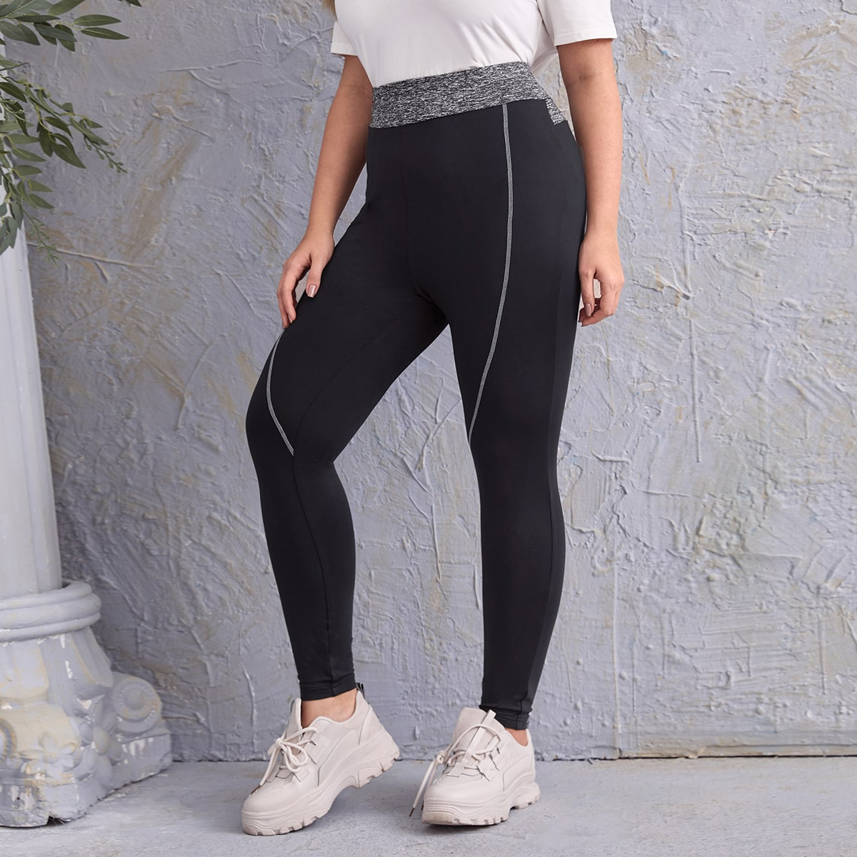 SHEIN Sport Vlak Grote maat: legging