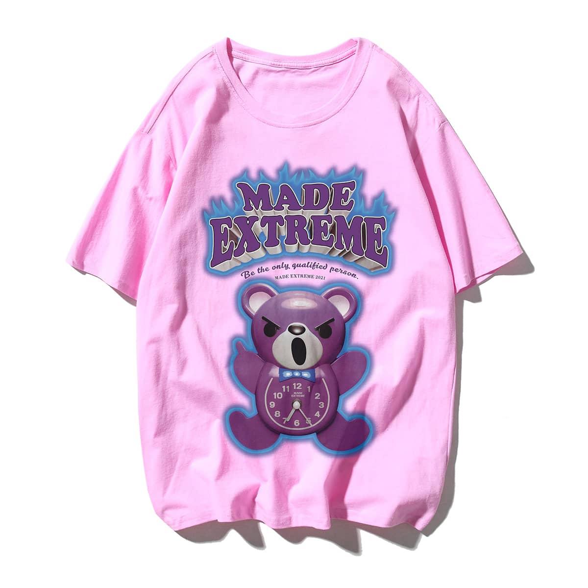 Мужская футболка с принтом медведя по цене 1 010
