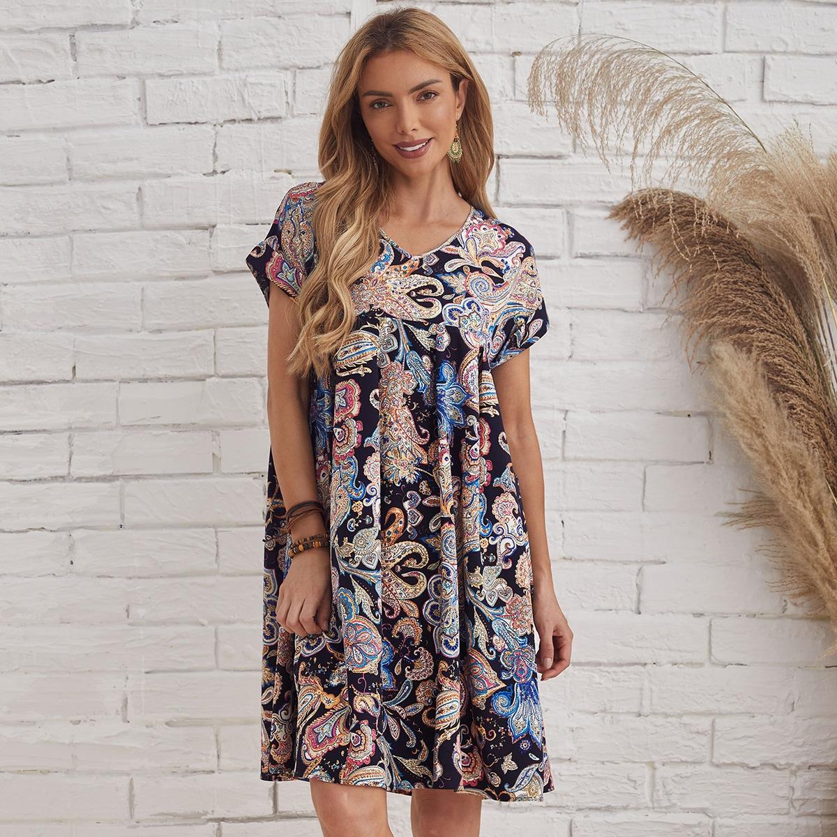 Платье с принтом пейсли