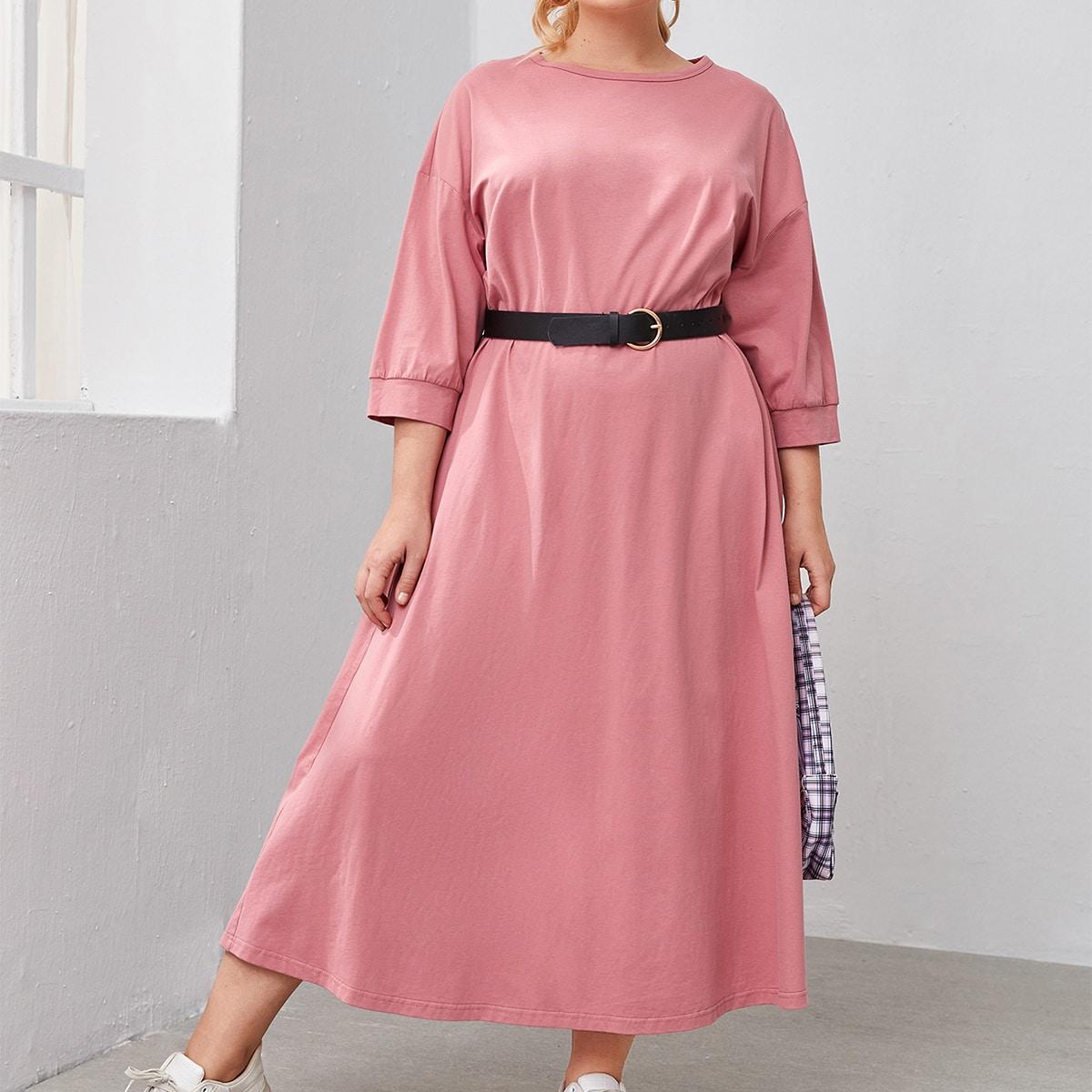 Платье размера плюс без пояса по цене 990