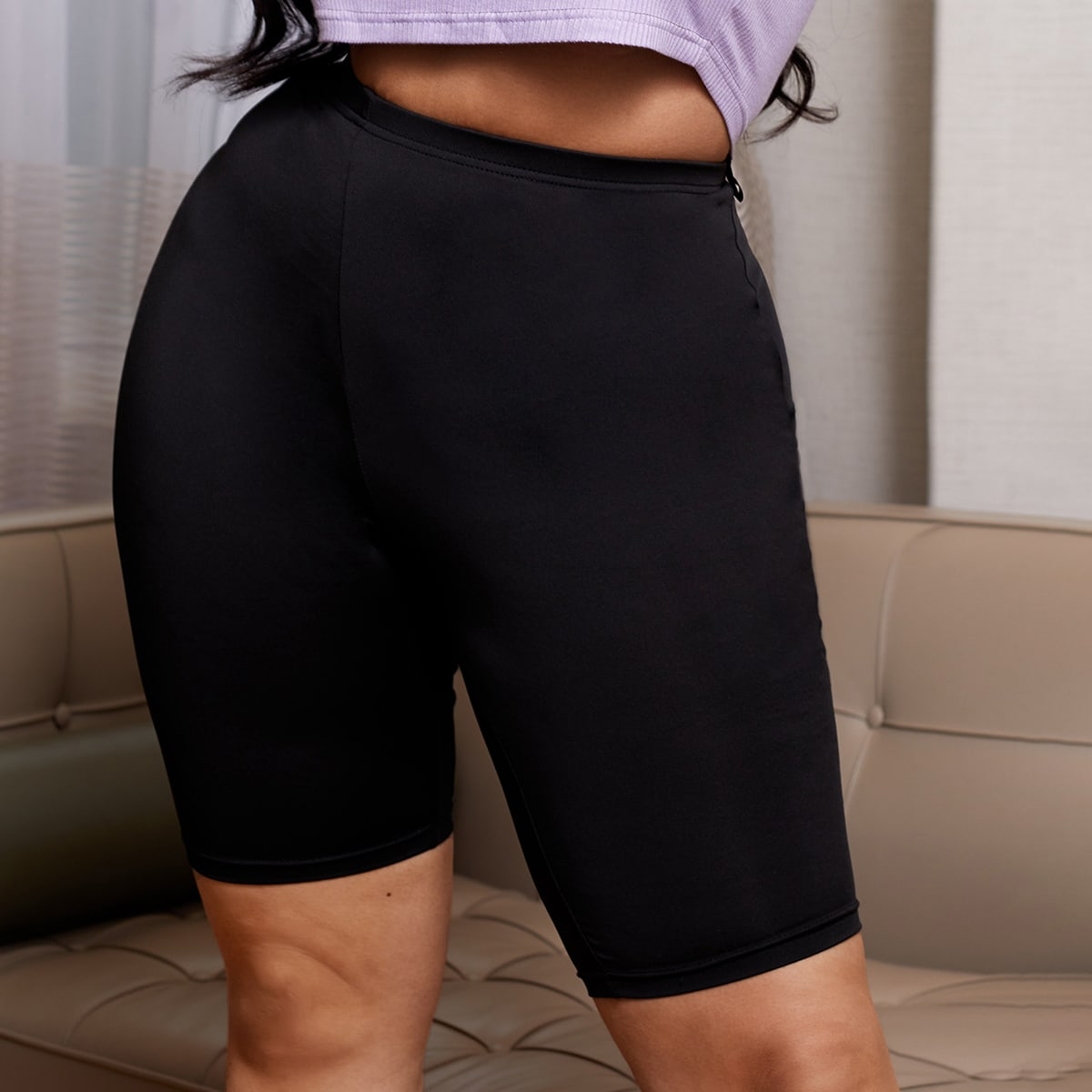 SHEIN Casual Vlak Grote maat: legging