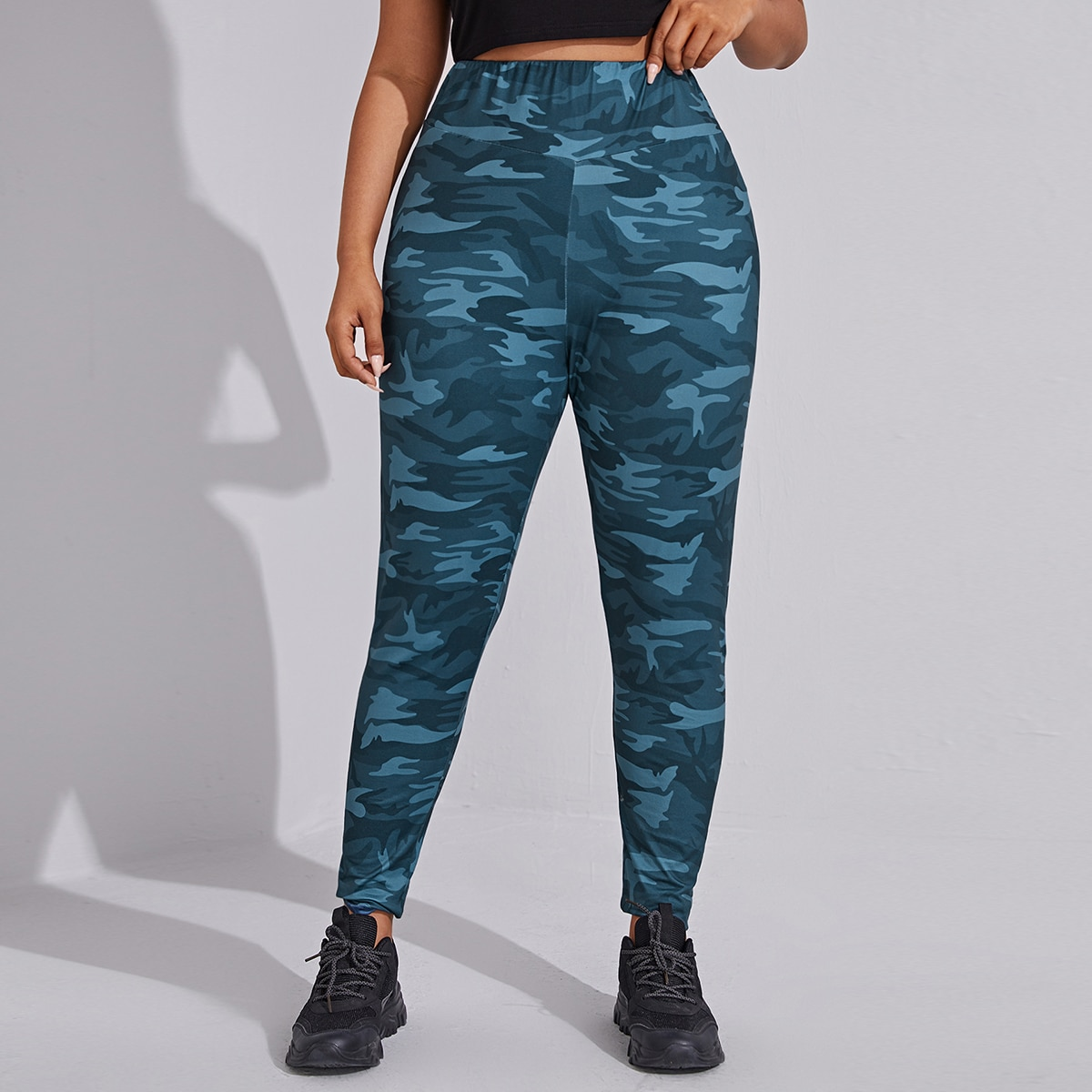 SHEIN Casual Camouflage Grote maat: legging