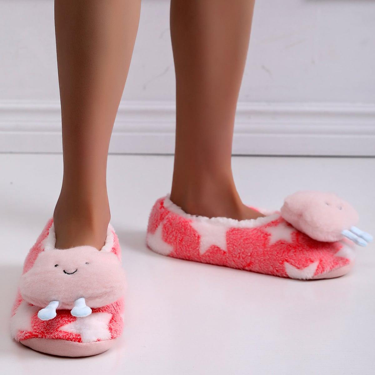 SHEIN Pluche cartoon decoratieve pantoffels