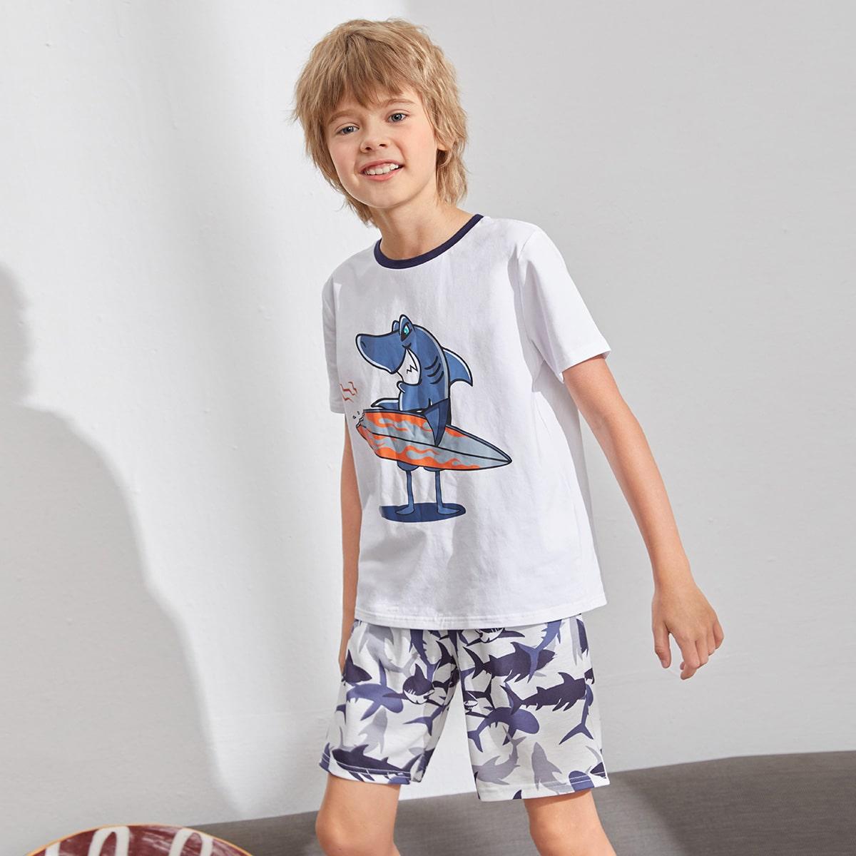 Животный Повседневный Домашняя одежда для мальчиков
