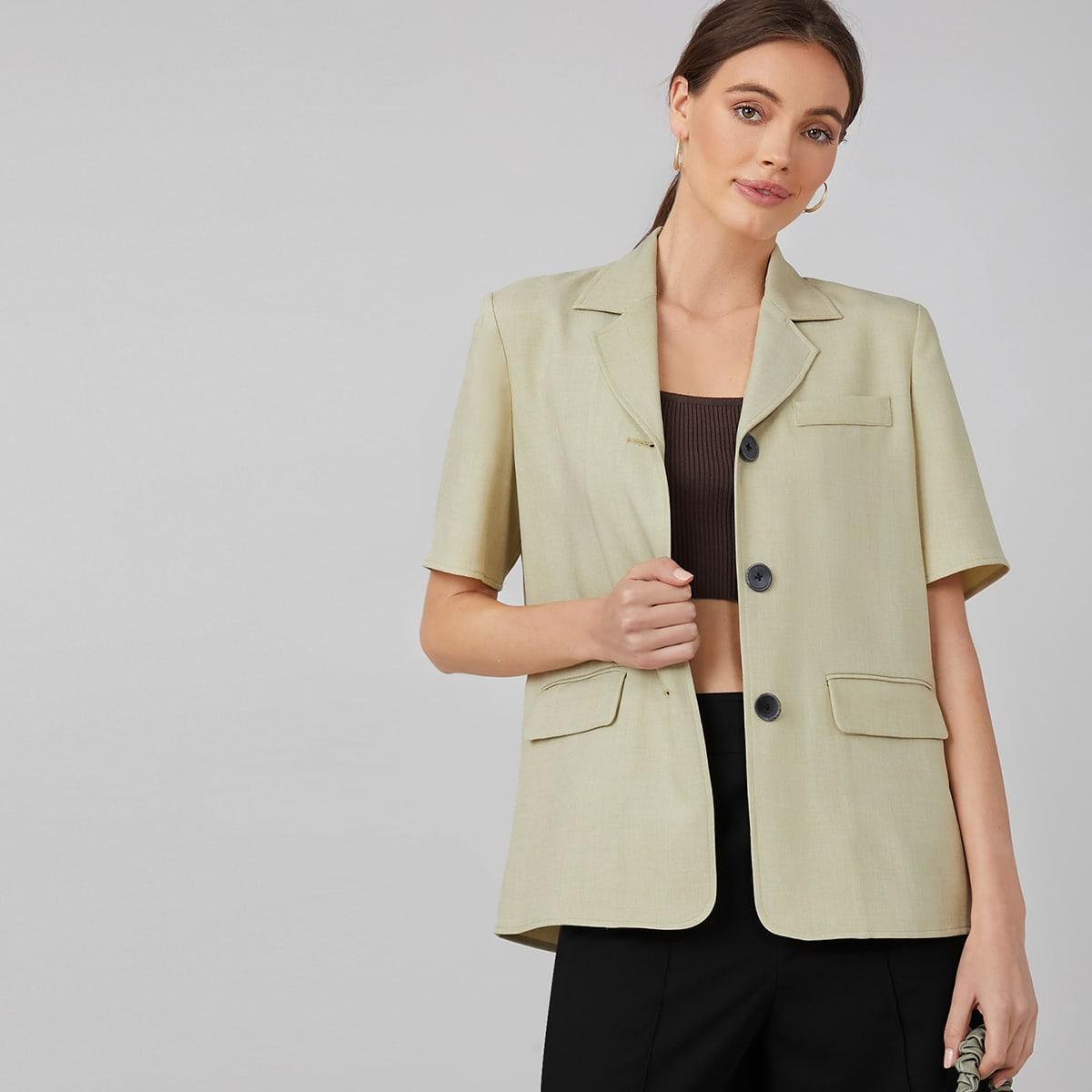Прямая блуза из спандекса