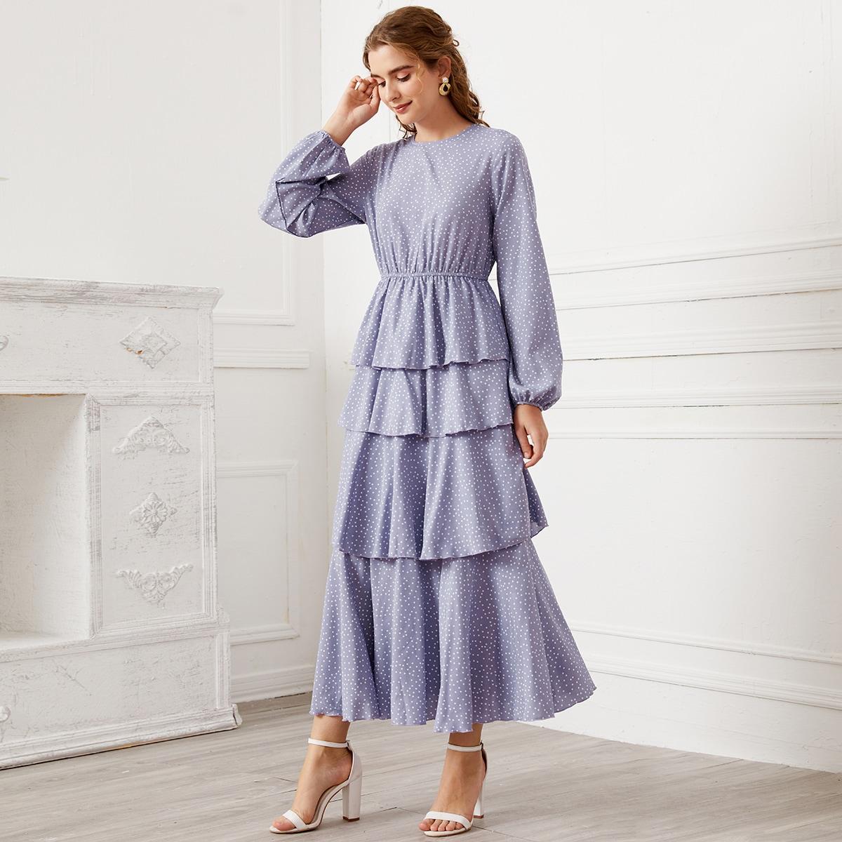 Платье с далматинским принтом по цене 1 580