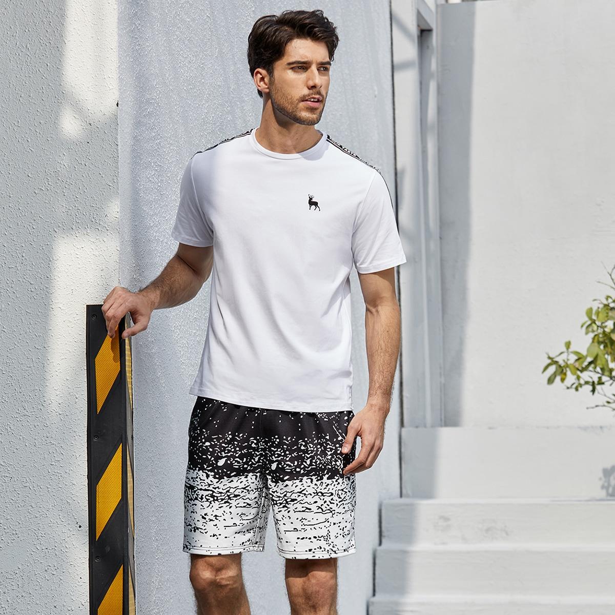 Shorts con coulisse con stampa grafica