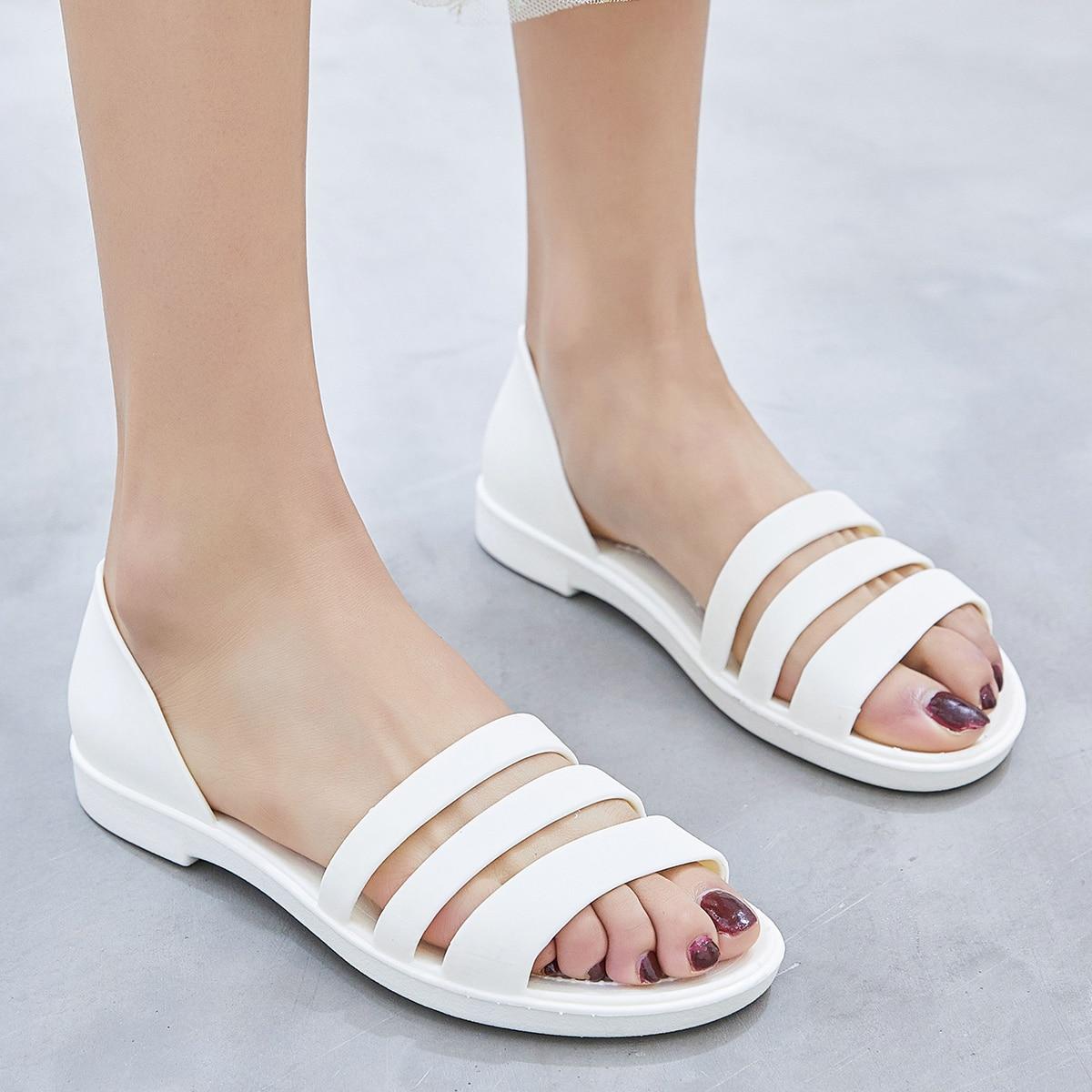 SHEIN Minimalistische sandalen met riempjes