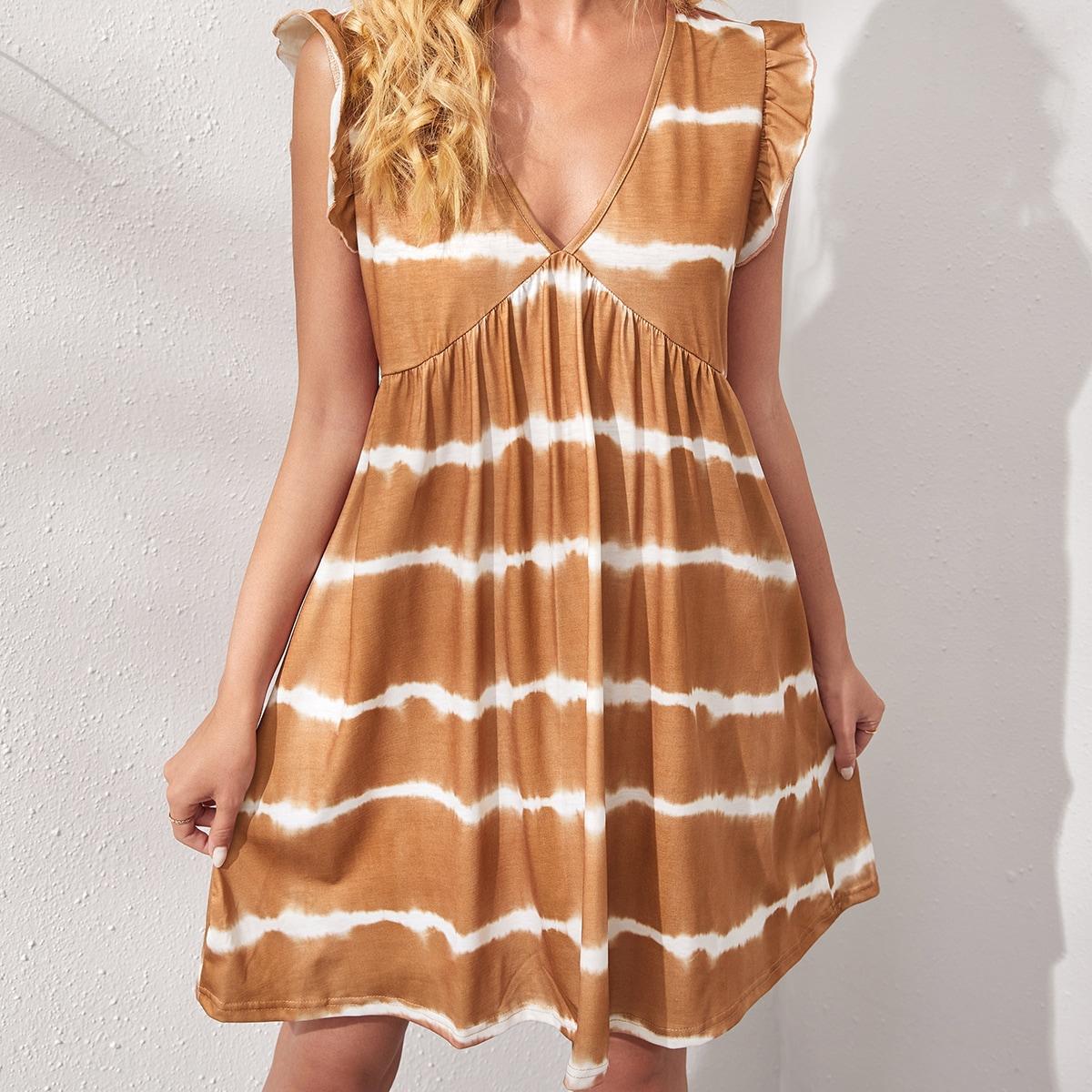 Платье с принтом тай дай
