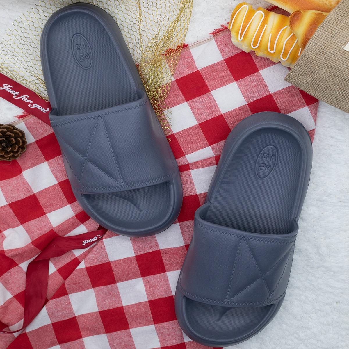 SHEIN Pantoffels met open teen en textuur voor heren