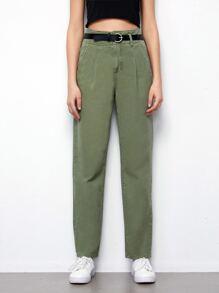 Belt Green High-Waist Baggy Jeans - $27.95