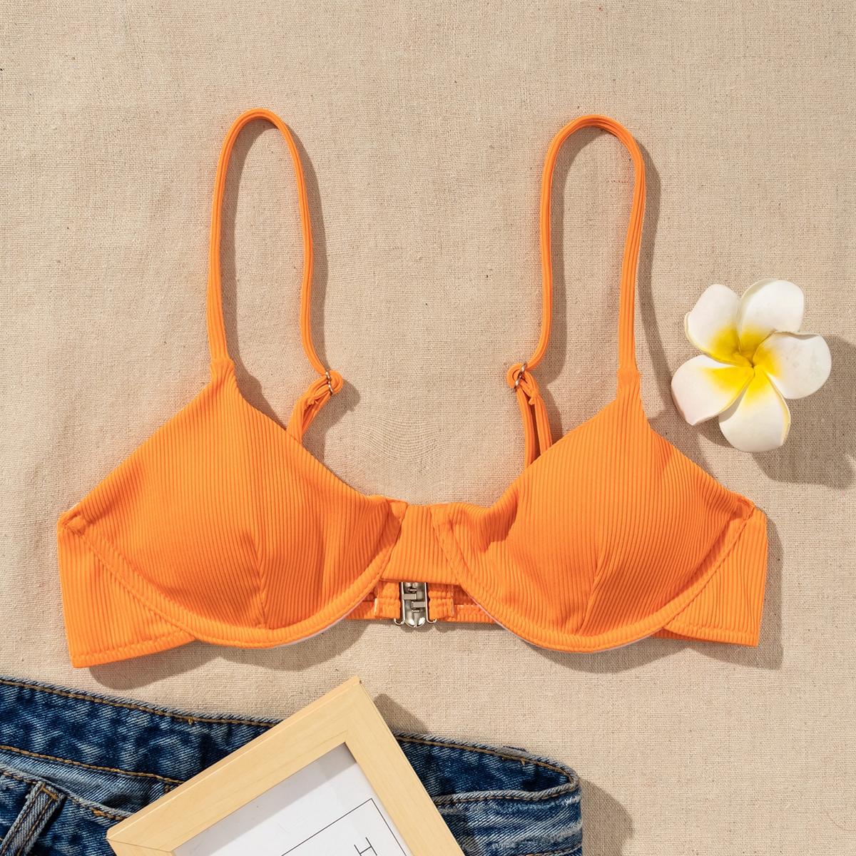 SHEIN Casual Vlak Bikini top