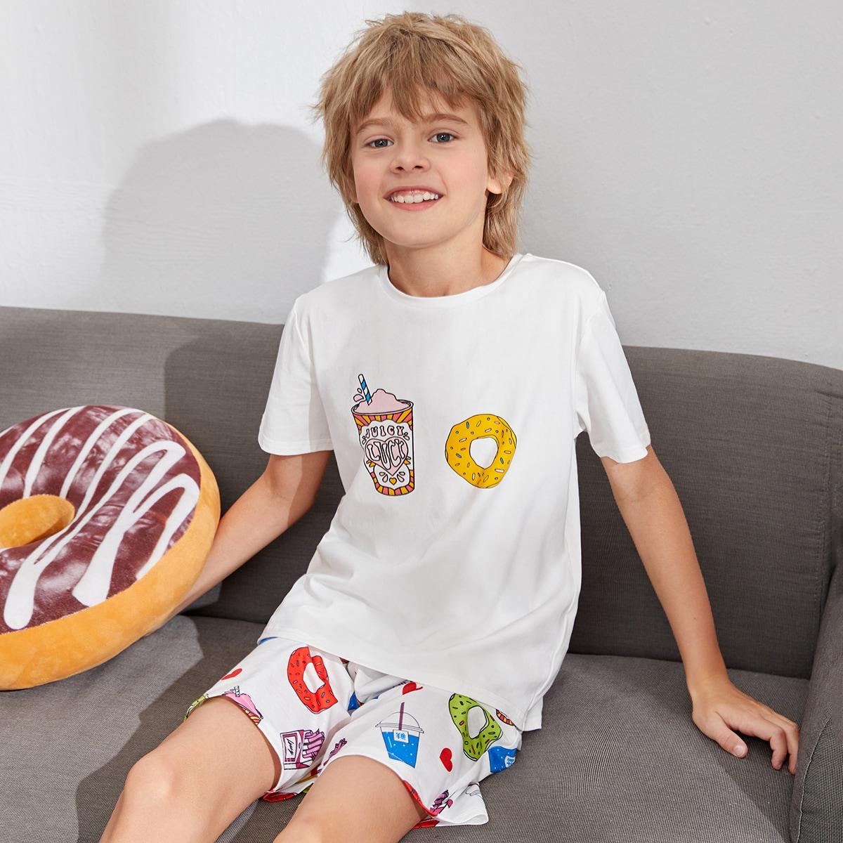 Пижама с принтом пончиков для мальчиков