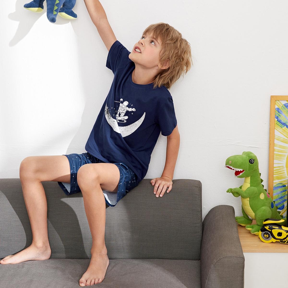 Пижама с принтом астронавта для мальчиков