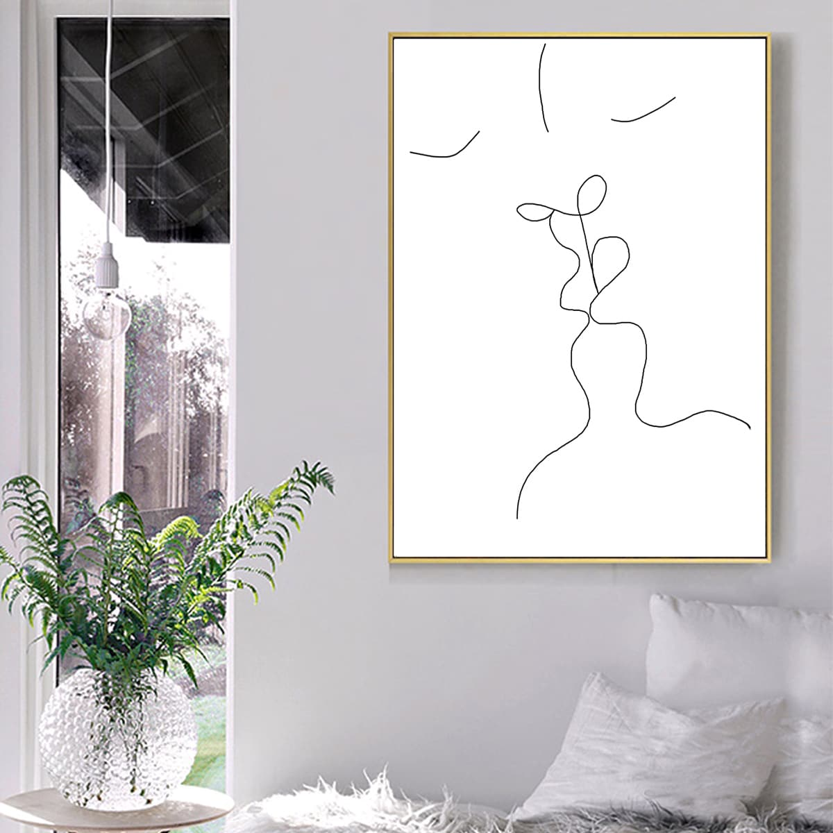 Abstract Figure Graphic Unframed Painting