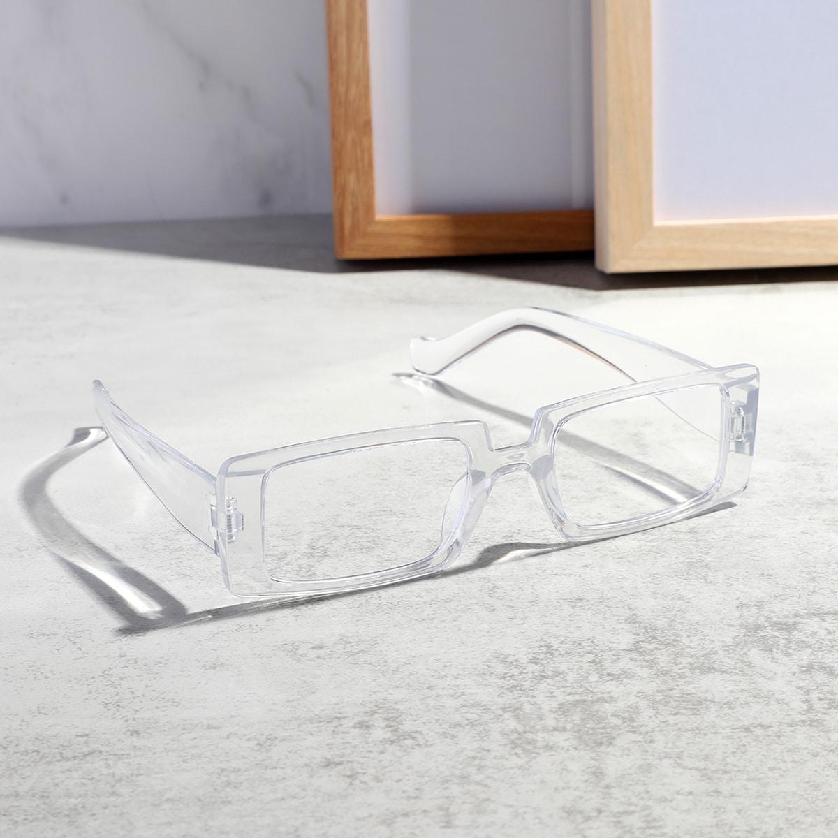 SHEIN Mannen helder acryl montuur bril