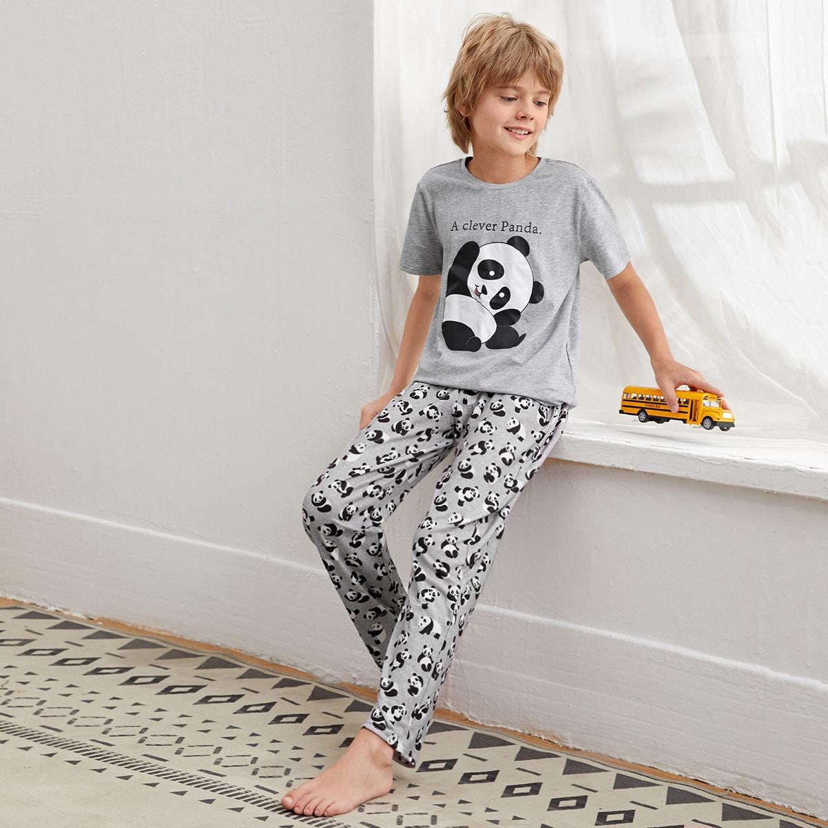Пижама с принтом панды для мальчиков
