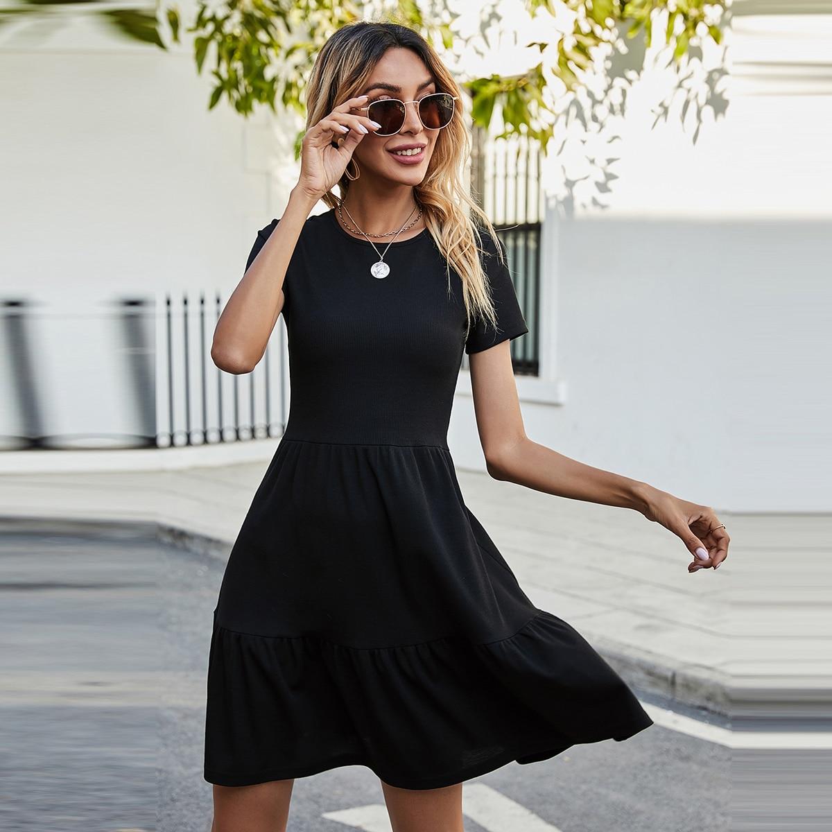 Вязаное платье в рубчик SheIn swdress44201217200
