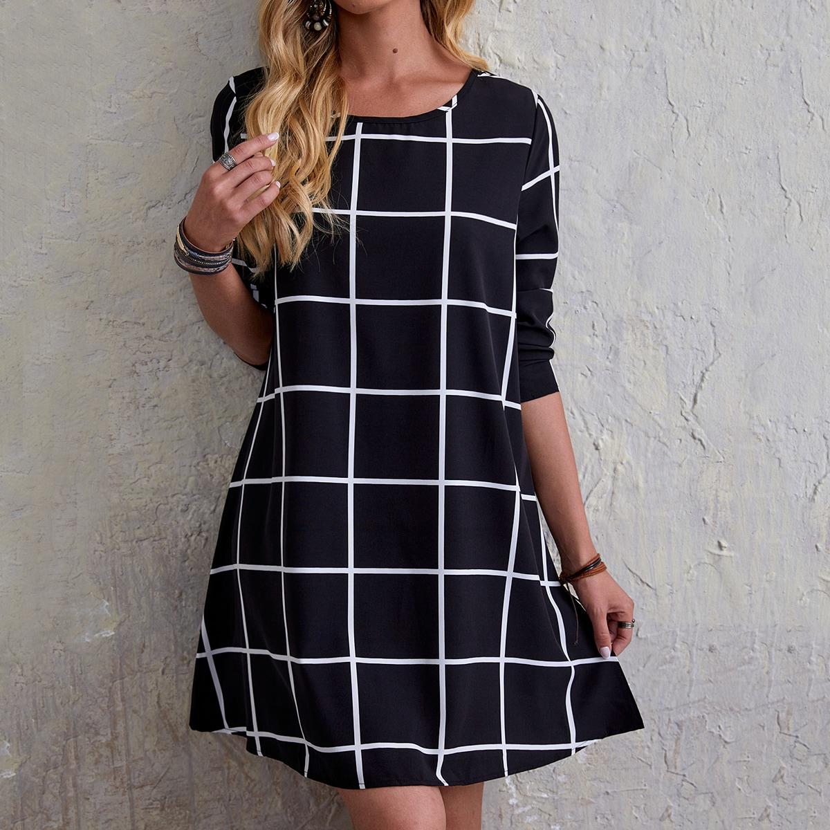 Платье в клетку SheIn swdress29210104620