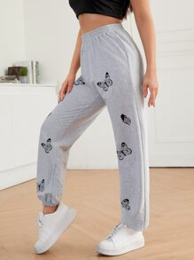 Butterfly Print Sweatpants - $16.95