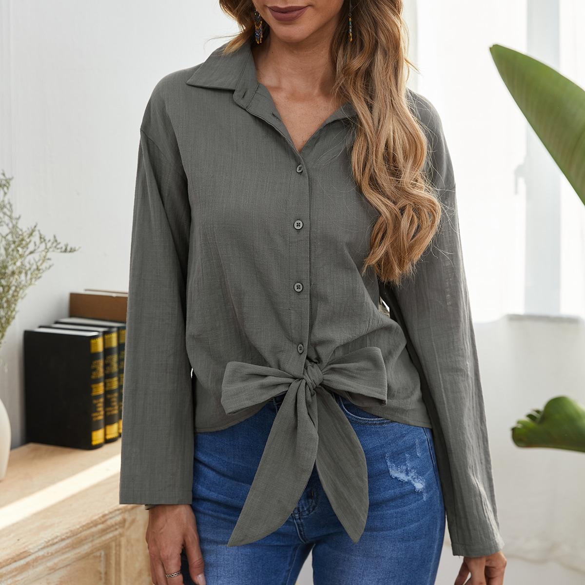 Блузка со спущенным рукавом