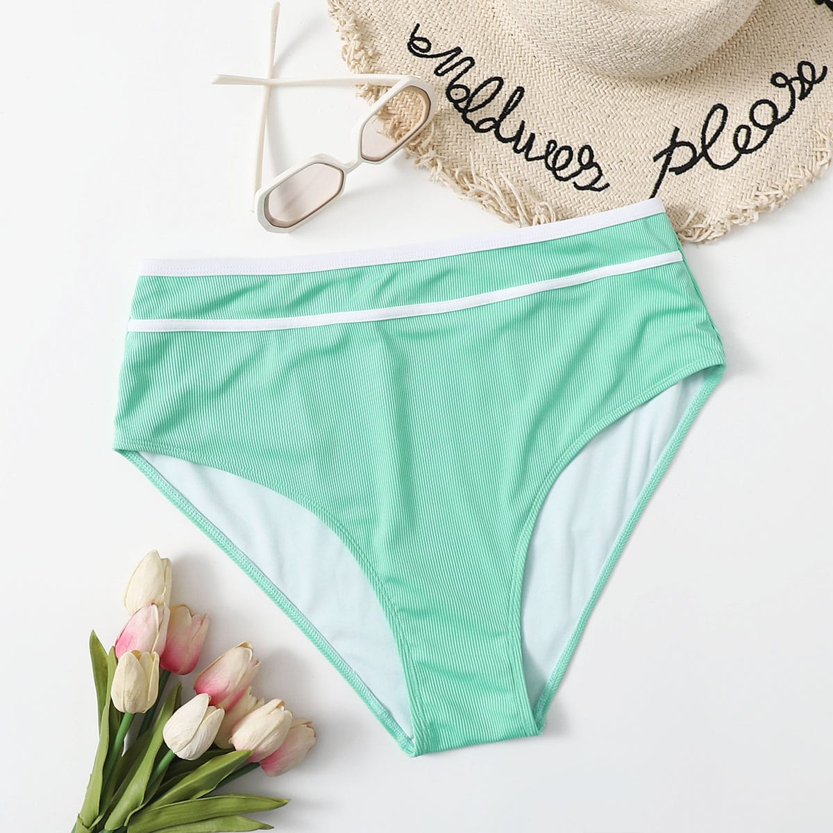 SHEIN Schattig Vlak Grote maat bikini bottom