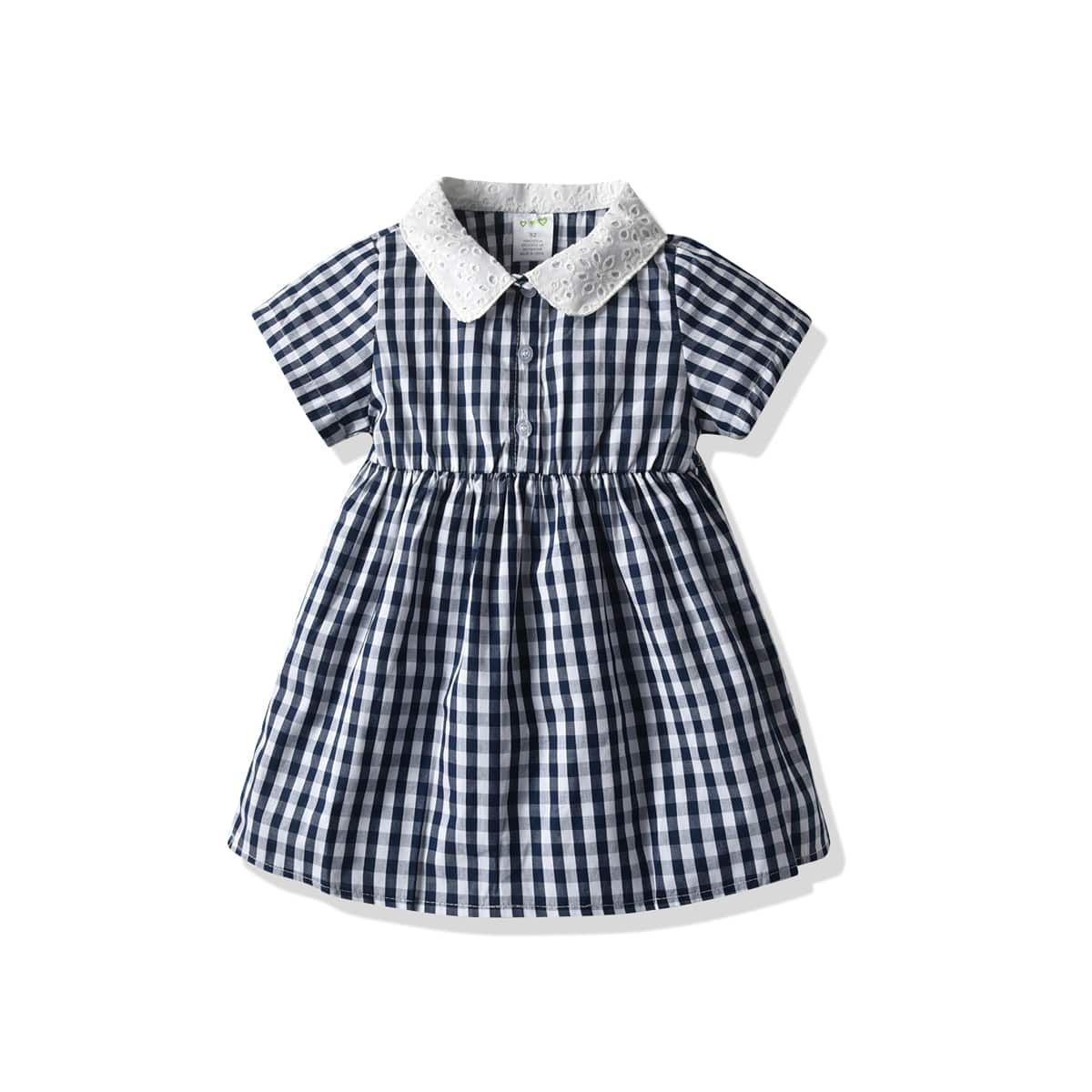 Платье-рубашка в клетку для девочек от SHEIN