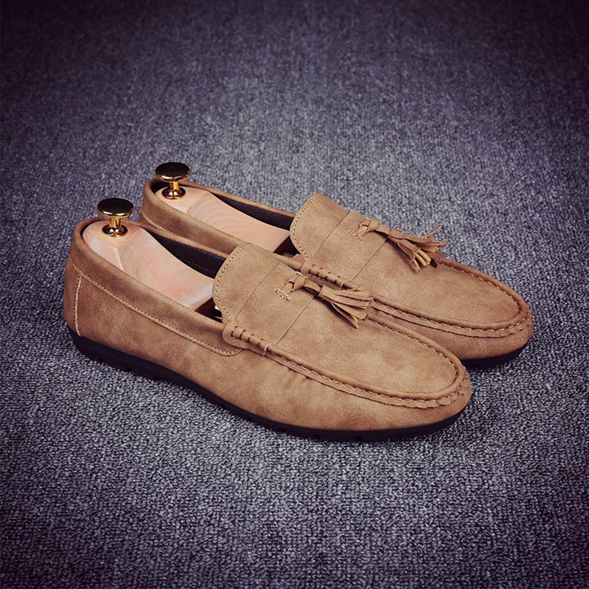 SHEIN Loafers met franjes voor heren
