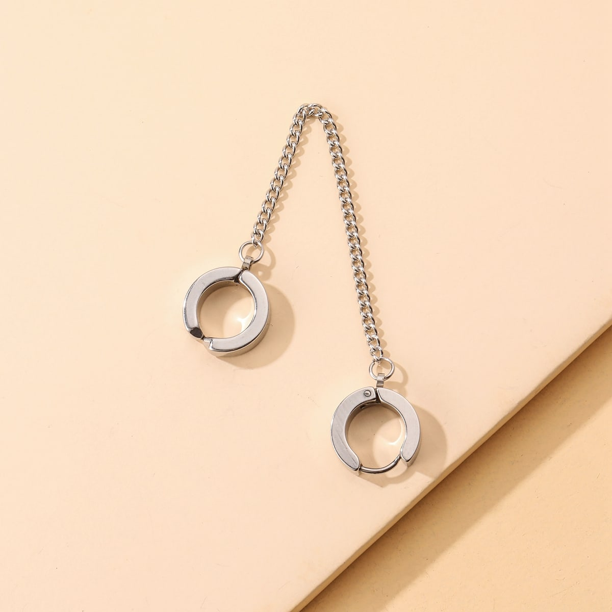 1pc Men Chain Decor Drop Earring