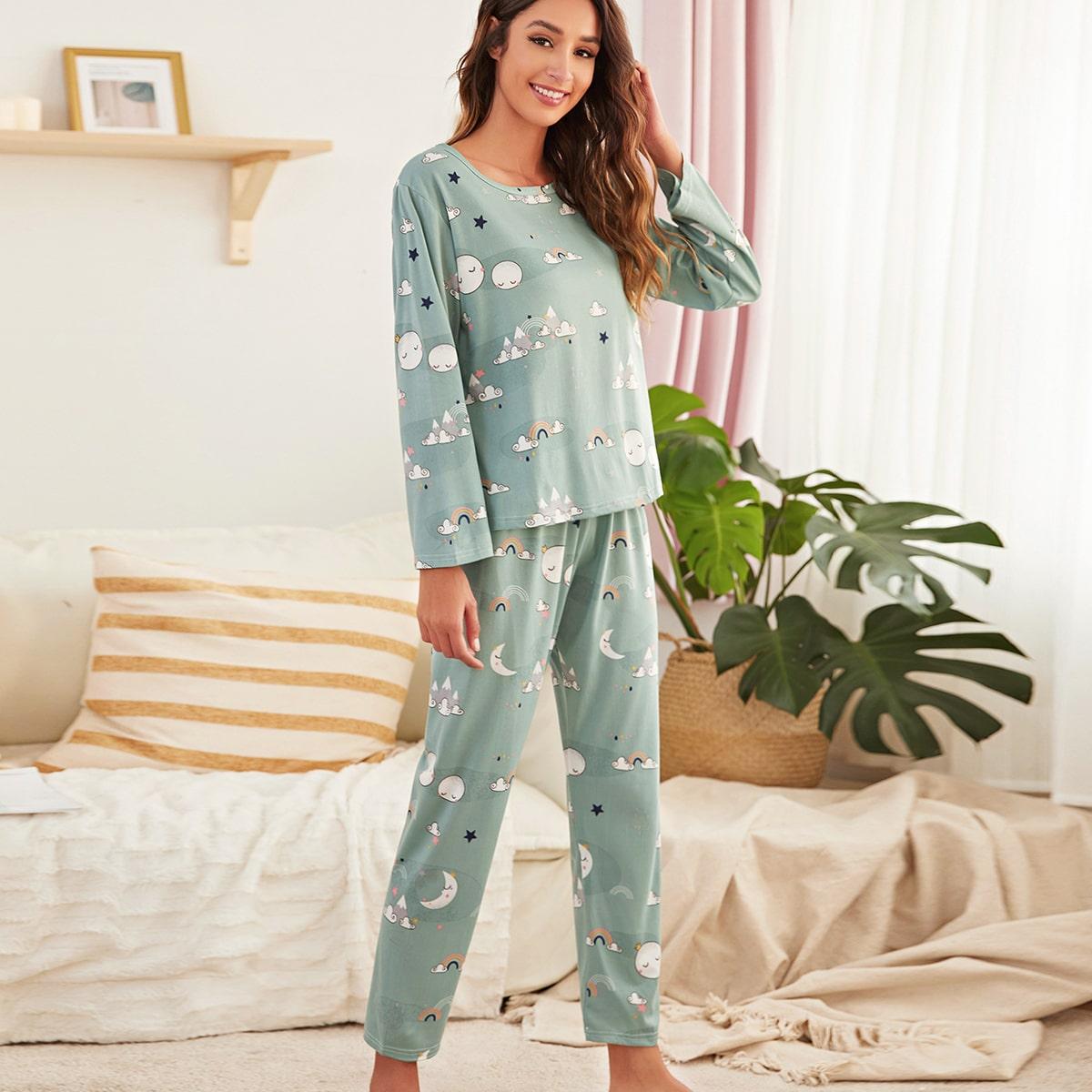 Пижама с мультяшным принтом по цене 650