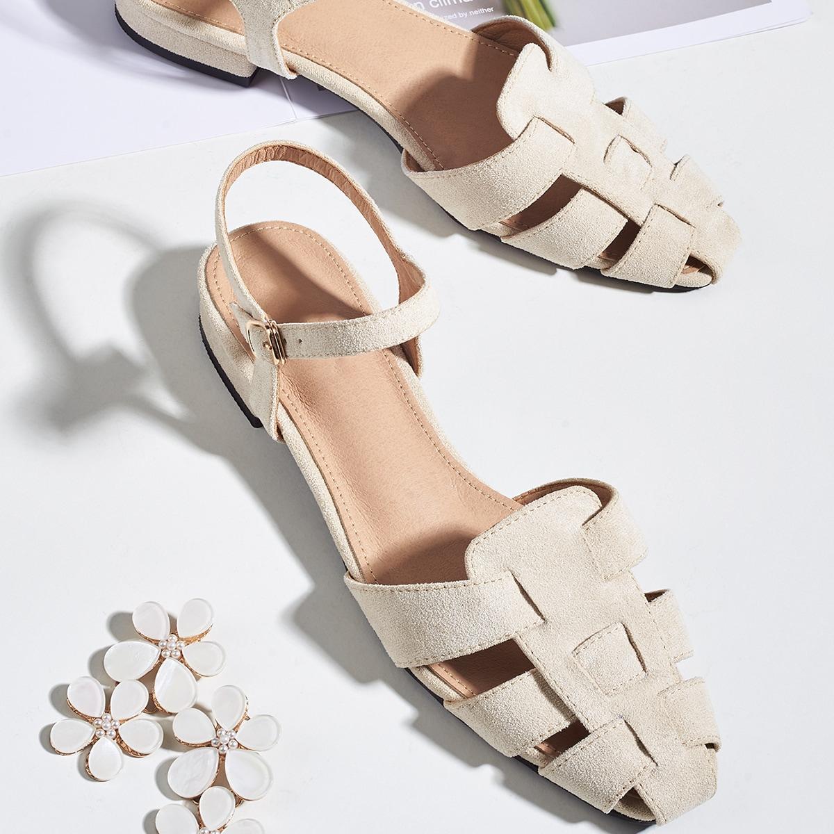 Замшевые туфли на плоской подошве от SHEIN