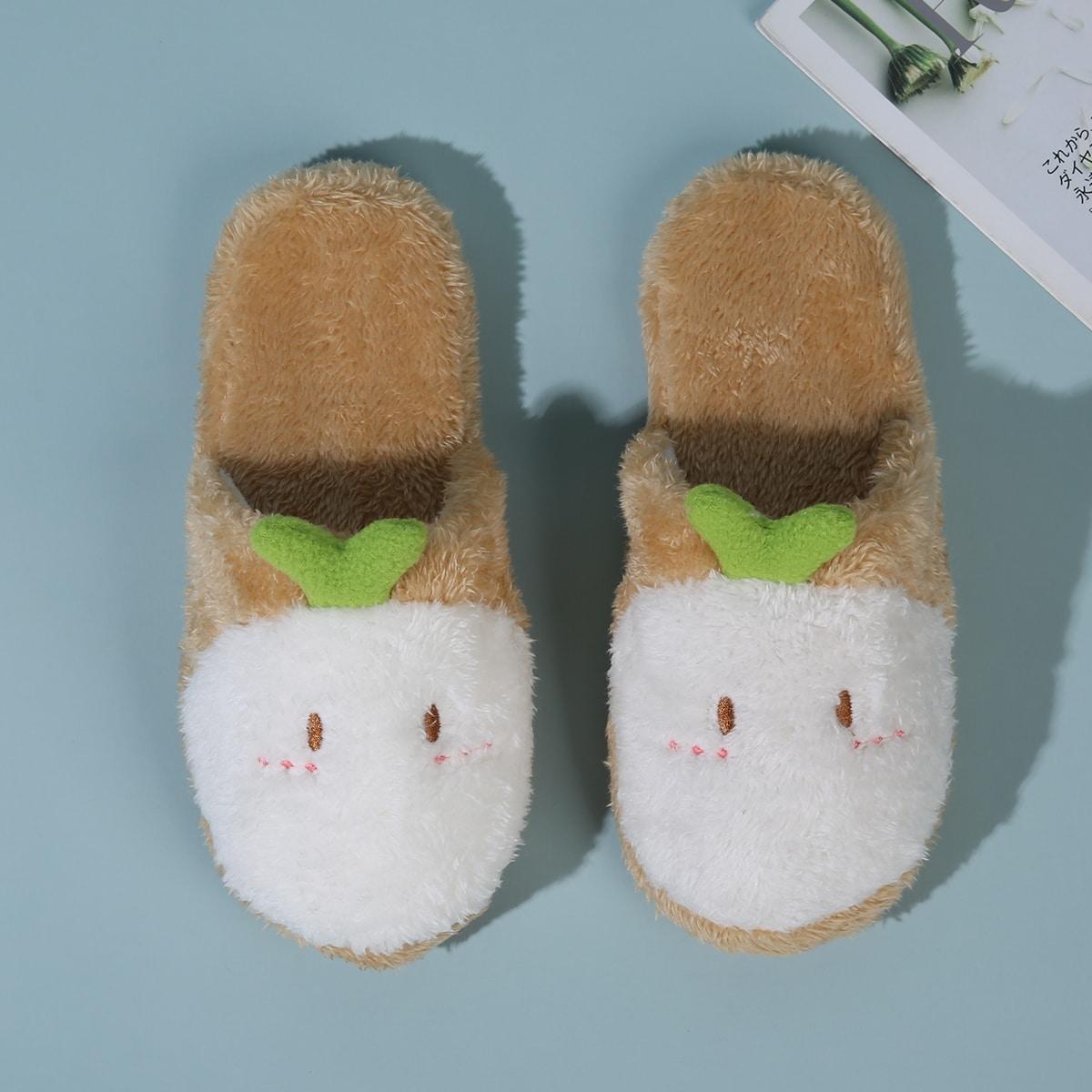 SHEIN Fuzzy slippers met cartoonontwerp