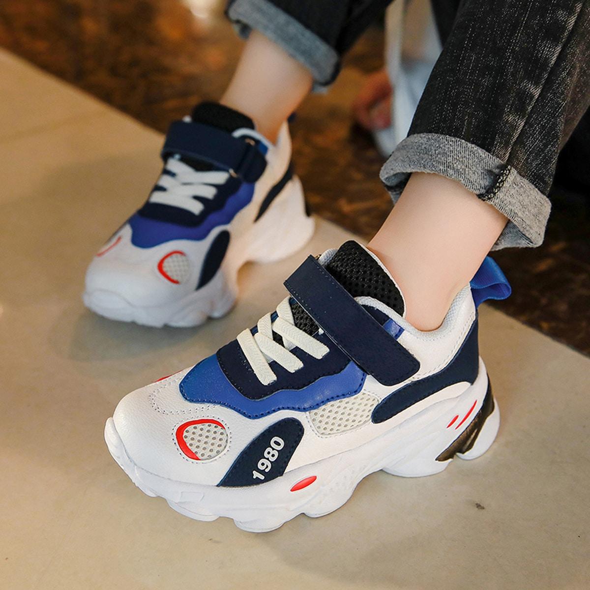 Кроссовки для мальчиков на липучках от SHEIN
