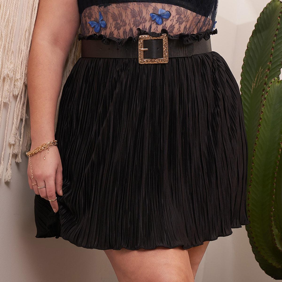 Плиссированная юбка размера плюс с присборенной талией по цене 528