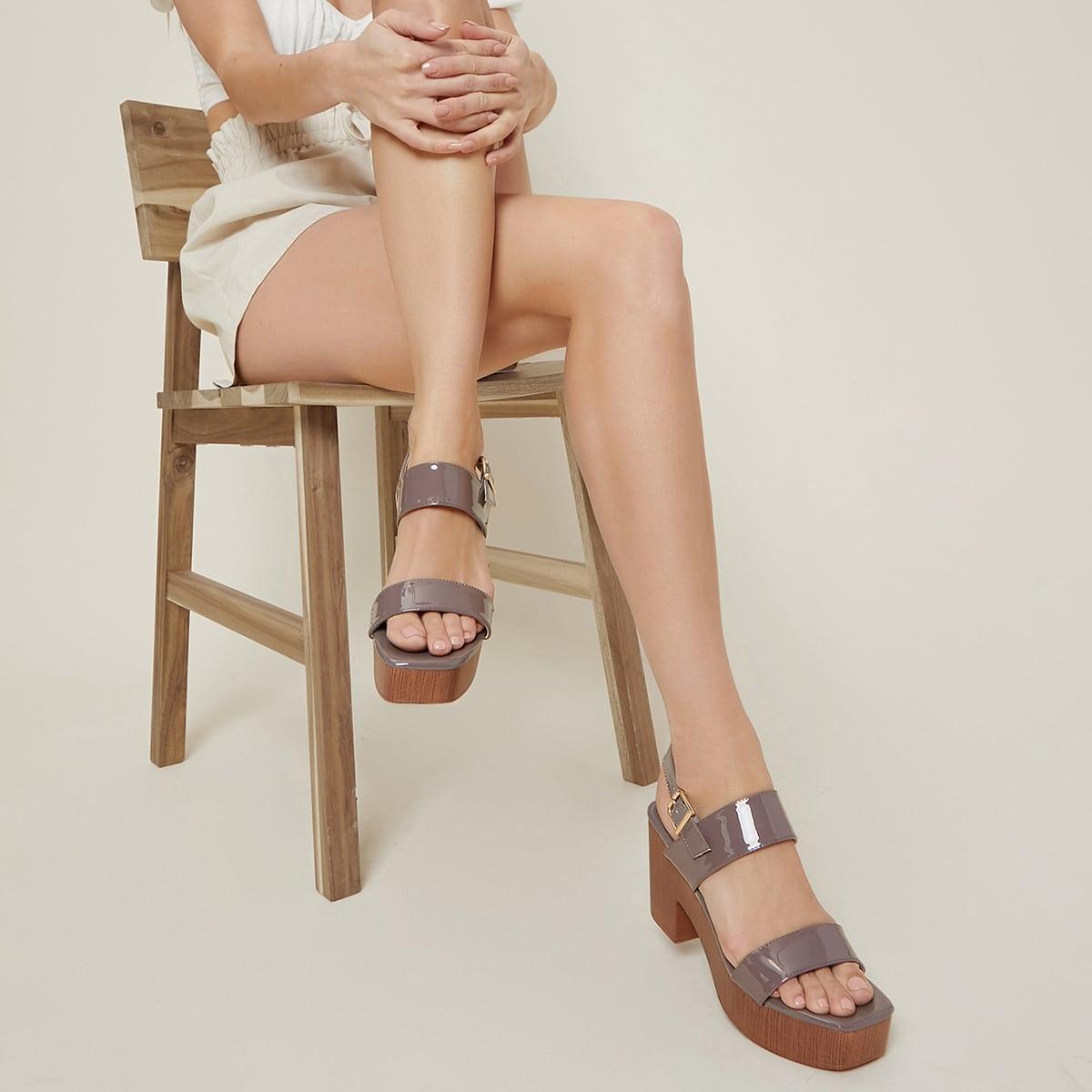 Туфли на платформе из искусственной кожи
