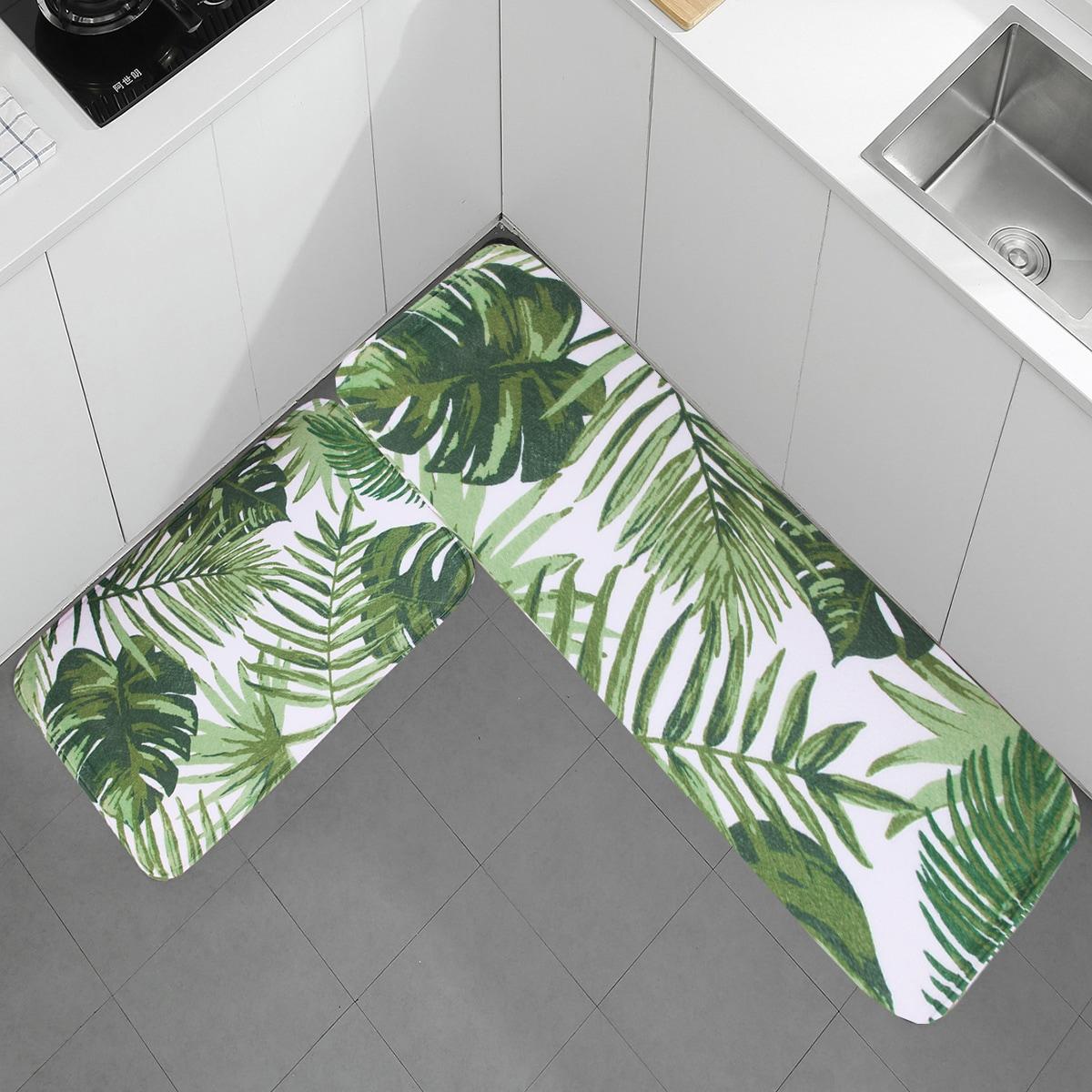 1 Stück Bodenmatte mit Blatt Muster
