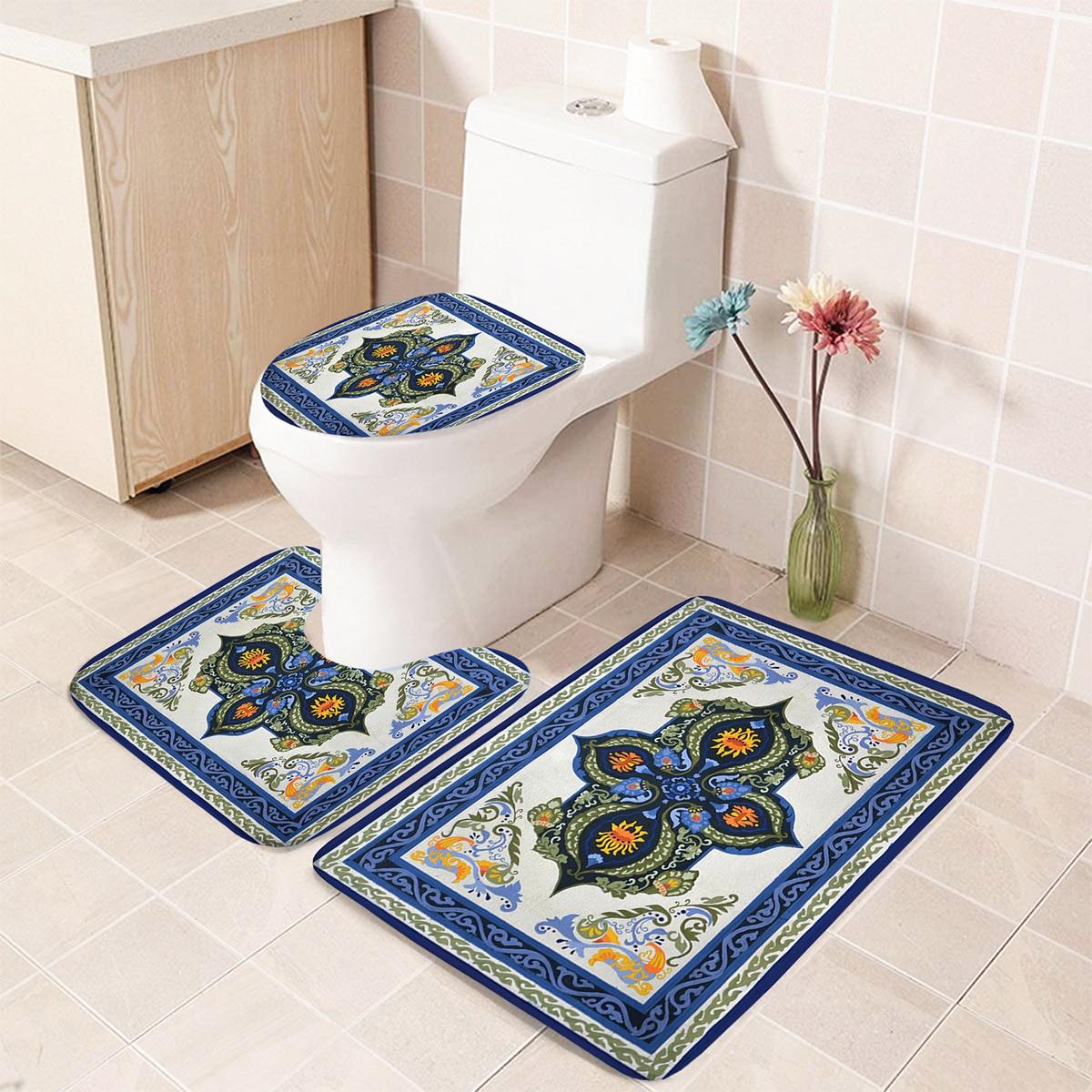 1 Stück Badezimmer Matte mit Blumen Muster