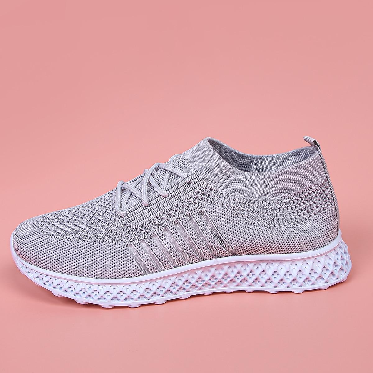 SHEIN Sport Gestreept Sneaker Kant