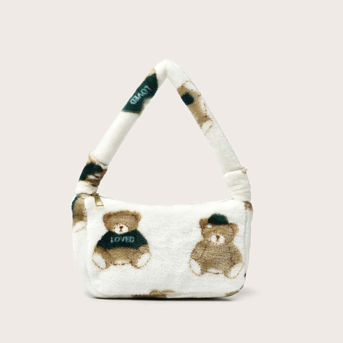 Einkaufstasche mit flauschigem Bären Grafik