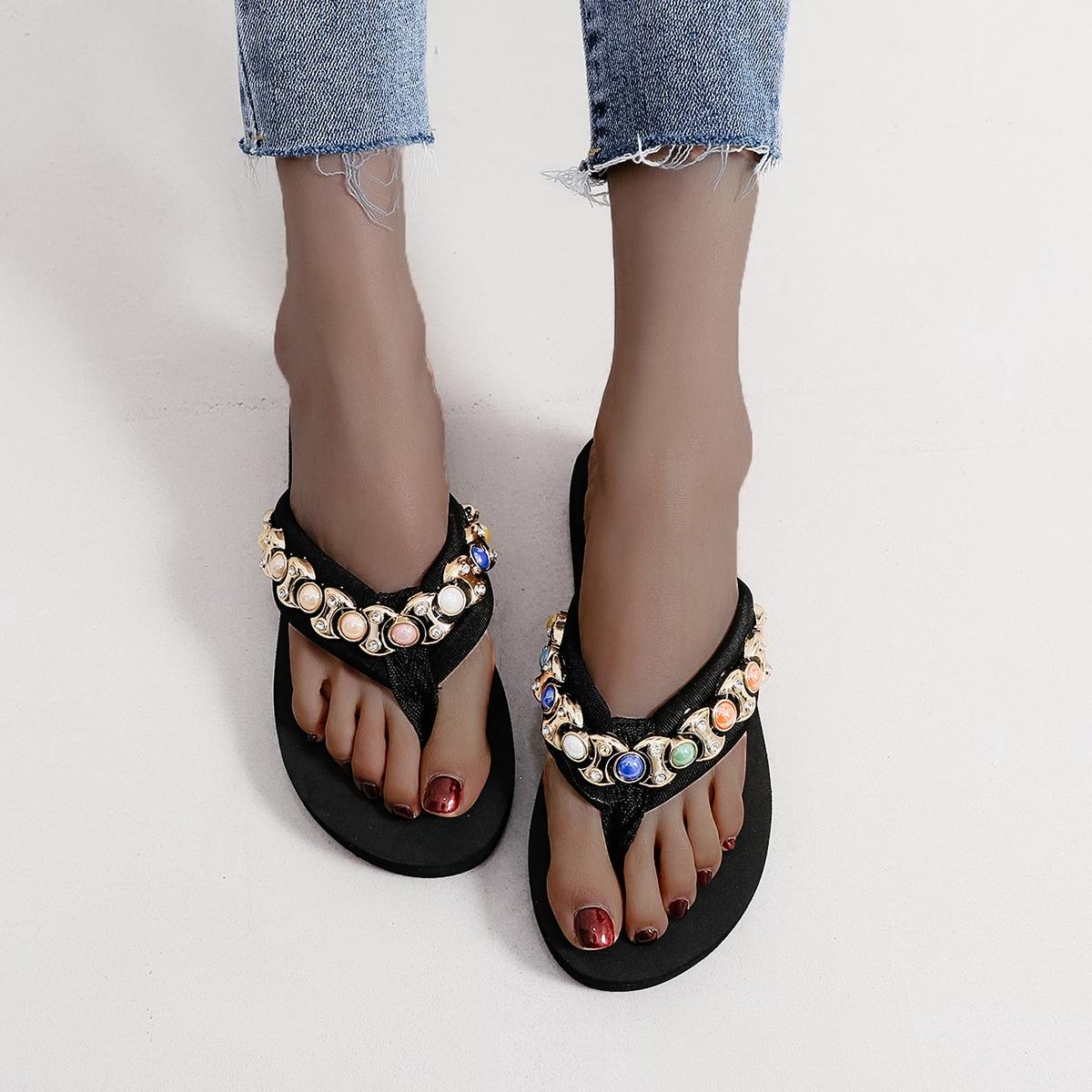 SHEIN Modieus Slippers Bergkristal