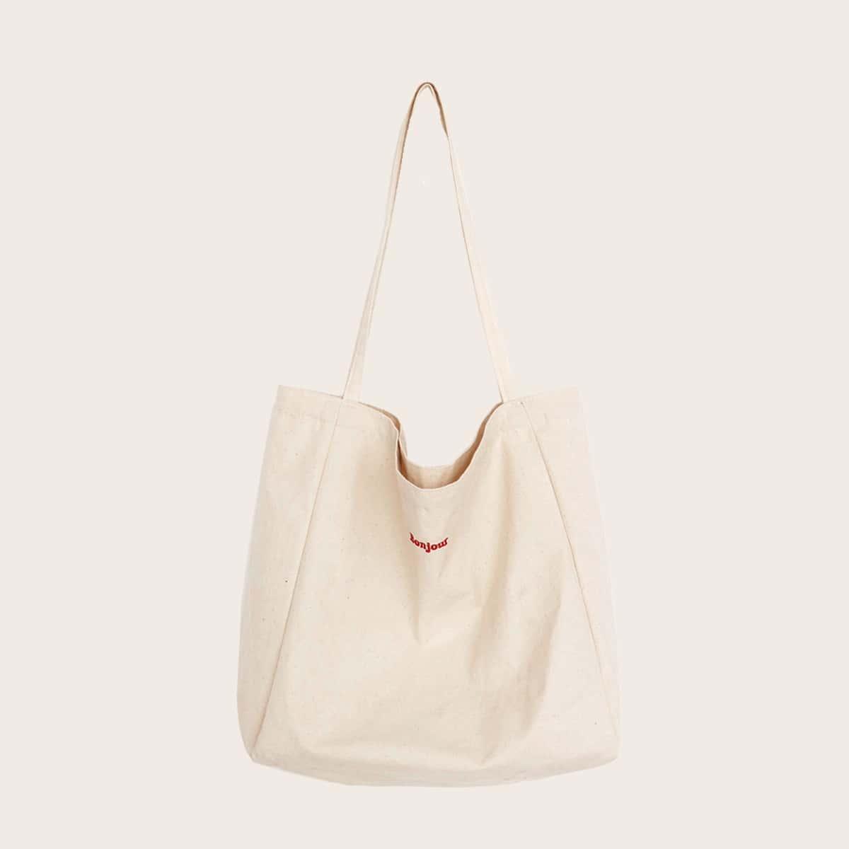 Холщовая сумка-тоут с вышивкой