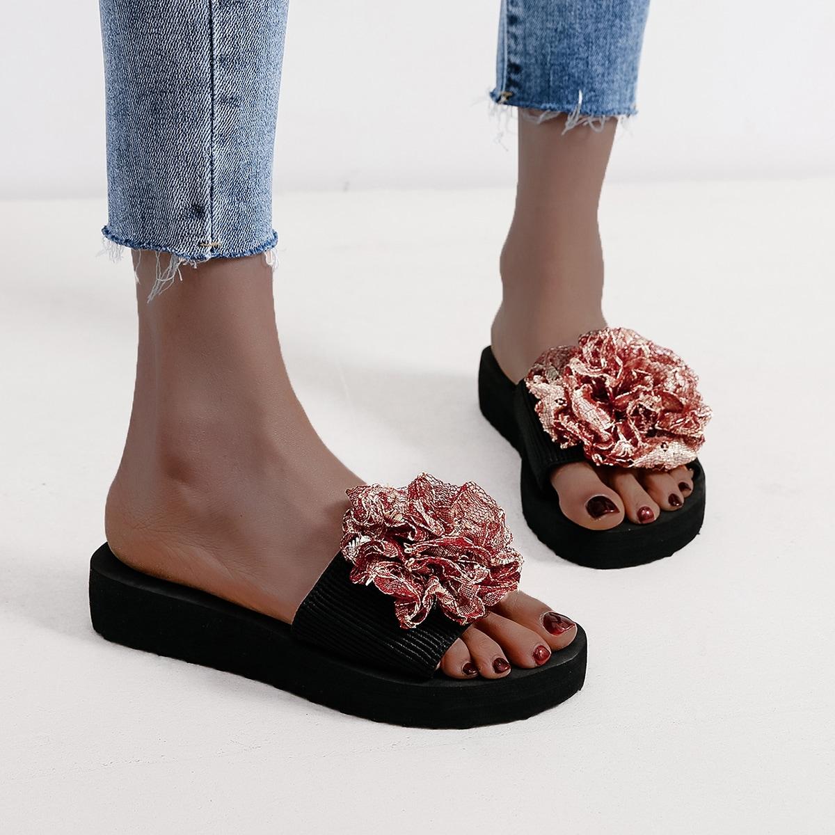 SHEIN Modieus Bloemen Slippers