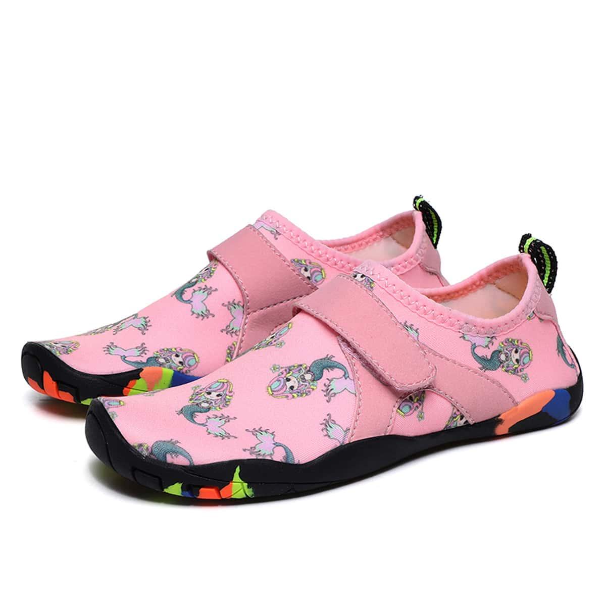 Обувь для воды на липучке с рисунком русалки для мальчиков от SHEIN