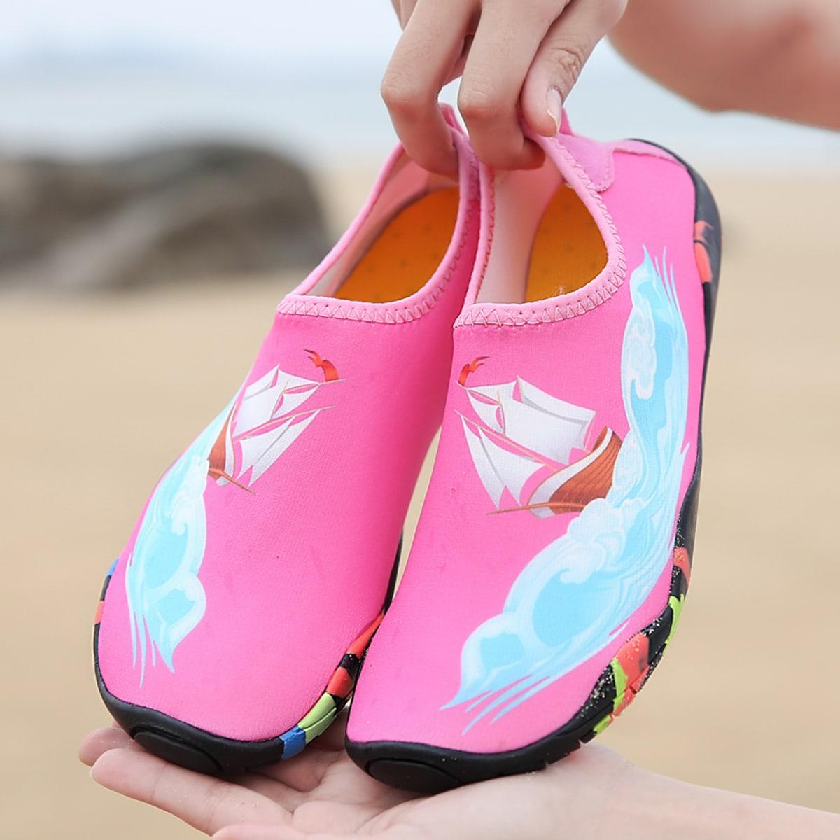 Водные туфли с рисунком лодки для девочек от SHEIN