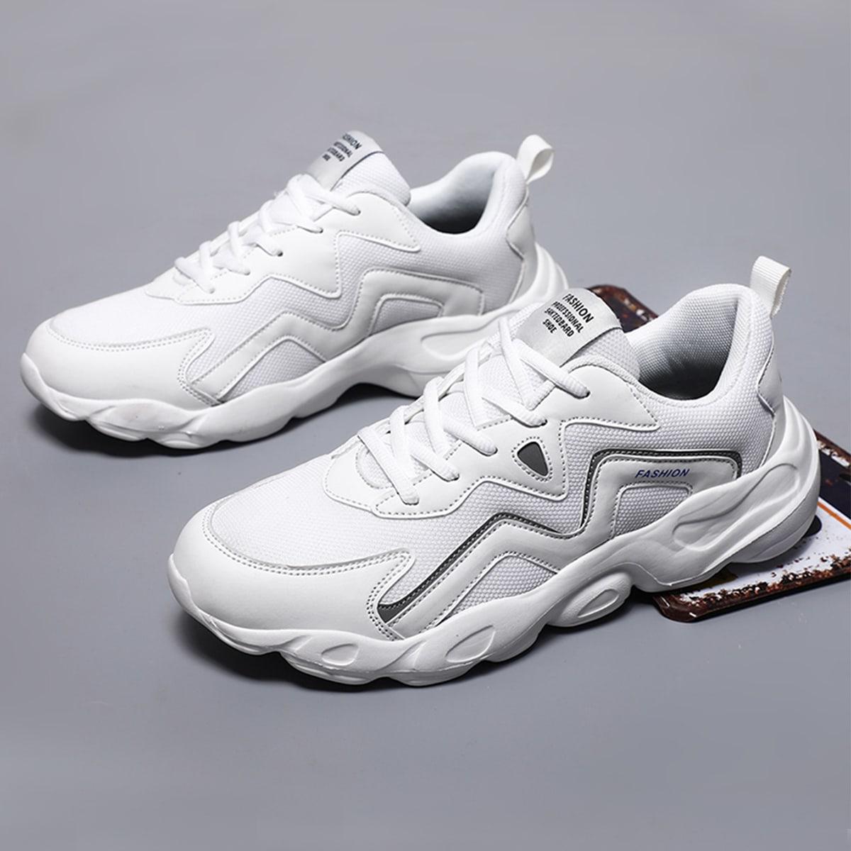 Мужские кроссовки на шнурках с низким верхом