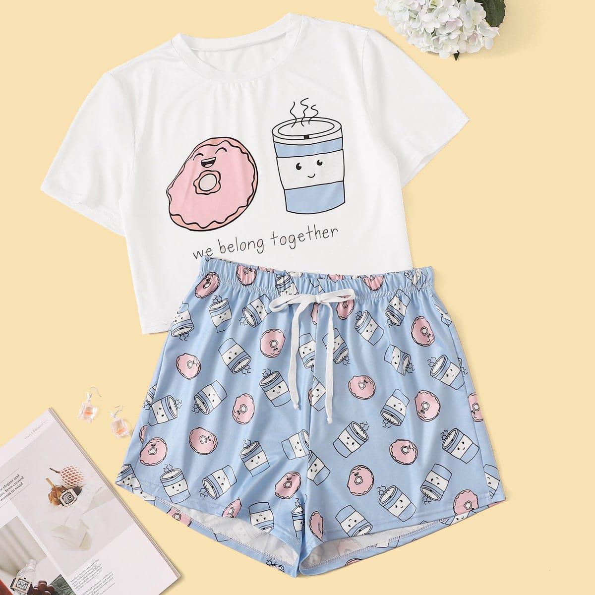 Пижамы с оригинальным принтом
