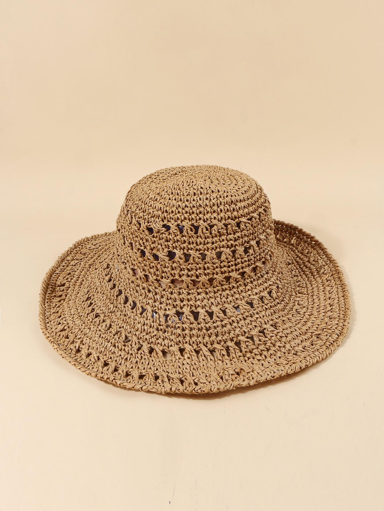 plain straw hat