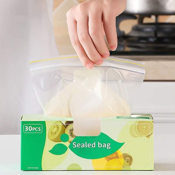 30pcs Food Sealed Bag, Clear